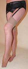 Classique One Size Plain Knit 10 Denier Nylon Stockings in a Mink Shade