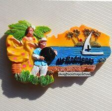 TOURIST SOUVENIR 3D RESIN TRAVEL FRIDGE MAGNET --- Rodrigues , Mauritius