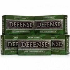 Defense Soap 5 Pack Peppermint Natural Antimicrobial Therapeutic Body Bar Soap