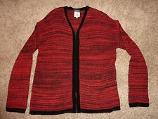 Cousin Jonny's XL red and black knit sweater