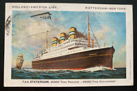 1934 Gibraltar Picture Postcard Cover To Columbus OH USA TSS Statendam
