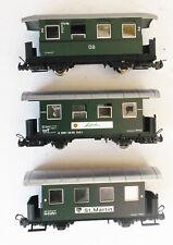 More details for liliput hoe oo9 - 3x ob austrian 4 wheel narrow gauge coaches