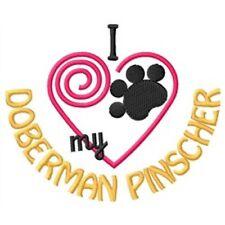 "I ""Heart"" My Doberman Pinscher Fleece Jacket 1433-2 Size S - Xxl"