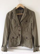 FRENCH CONNECTION Size 12 Green Corduroy Tailored Jacket