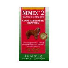 Pfizer Nemex II Dog Puppy Wormer (Pyrantel Pamoate) 2 oz Bottle