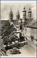 DDR Ansichtskarte Sachsen-Anhalt NAUMBURG Saale Steinweg Blick zum Dom Kirche