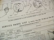 wisconsin tra-10d,tr,12d,illustrated parts list,antique tractor,vintage tractor