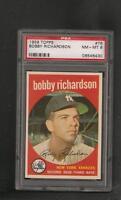 1959 Topps # 76 Bobby Richardson PSA 8 NM-MT