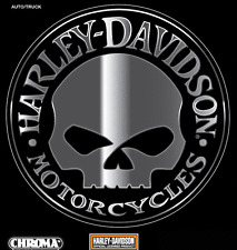 HARLEY DAVIDSON WILLIE G SKULL CHROME Emblemz DECAL