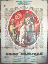 THE ADVENTURES OF REMI aka SANS FAMILLE MOVIE POSTER French 47x63 ANDRE MICHEL