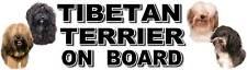 TIBETAN TERRIER ON BOARD Car Sticker by Starprint