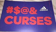 2016 Chicago Cubs Poster Placard #$@& CURSES Adidas Wrigley CURSE World Series !