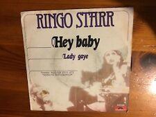 """Ringo Starr – Hey Baby 45 Giri 7"""" Vinile ITA 1976"""