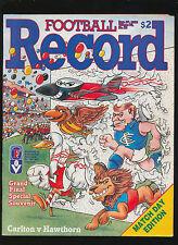 1986 Grand Final Match Day record Carlton vs Hawthorn  Hawthorn Premiers