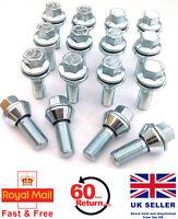 16 x alloy wheel M12 x 1.5 Wobble Wobbly Vari bolts variable PCD - Ford