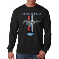 Ford Mustang Logo Hot Rat Rod American Classic Car Long Sleeve T-Shirt Tee