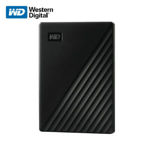 WD 1TB 2TB 4TB 5TB My Passport Portable External Hard Drive USB 3.2 Gen 1 BLACK