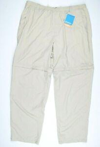 Columbia PFG Beige Khaki Convertible Casual Performance Pants/Shorts Mens sz XL