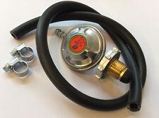 Propane Handtight LPG Gas Regulator 37mbar Caravan + 1 mtr Hose & Clips Free 904
