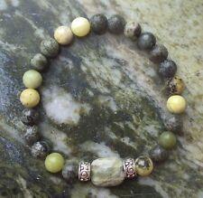 Connemara marble bracelet. Celtic spiral beads.Irish gemstone stone Jewelry gift