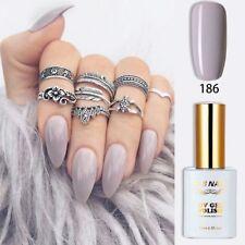 RS Nail 186 Gel Nail Polish Grey Colour UV LED Sequined Varnish Soak Off 15ml