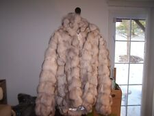 BRAND NEW   DYED FOX  FUR COAT JACKET MEN size XL