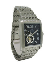 Bulova 96A128 Men's Roman Numerals Rectangular Automatic Stainless Steel Watch