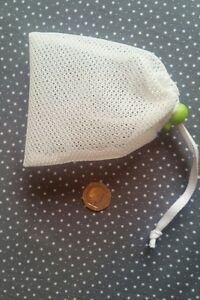 Soapnut Holder Mesh Laundry Bag with drawstring and toggle HIGH QUALITY!