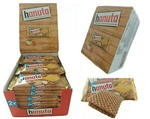 Ferrero HANUTA WAFER WITH HAZELNUT & COCOA (Box 18 packs-1.5oz)