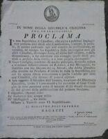1797 MILANO NOMINA DI REDATTORI E MESSAGGERI PER LA REPUBBLICA CISALPINA