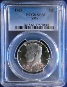 1965 PCGS SP66 SMS Toned Silver Kennedy Half Dollar CONECA DDO-002 No-272