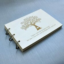 Rustic Wedding Guest book, Wedding guestbook album, Wedding Book with Tree