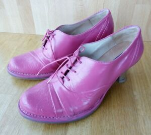 Neosens Leather Rococo Lace-up Heels, Pink hand dyed UK-6, EU-39 Victorian style