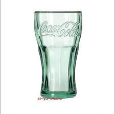 """New Coca Cola Green Glass Cup 4.25"""" Tumbler"""