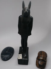 Anubis Statue +Commemorative Scarab + Heart Scarab