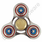 Captain America Metal Fidget Finger Spinner Hand Focus Steel Bearing UK
