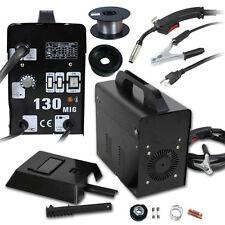 MIG 130 Welder Flux Core Wire Automatic Feed Welding Machine w/ Mask 110V