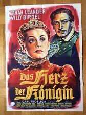 Herz der Königin (Kinoplakat '53) - Zarah Leander / Willy Birgel / Bonne-Grafik