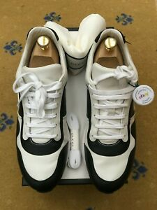 Gucci Mens Trainers Sneaker Shoes White Black Leather UK 10 US 11 EU 44 Low Top