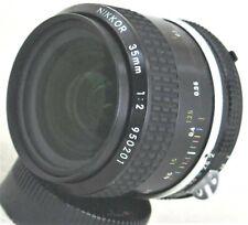 Nikon Nikkor 35mm F/2 MF Ai Lens Excellent No. 950201