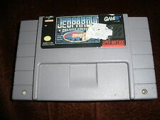 Jeopardy -- Deluxe Edition, Super Nintendo Snes game 100% Tested!