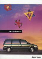 Prospekt Chrysler Voyager 9/93 1993 1994 Autoprospekt Broschüre Auto brochure