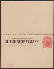 BECHUANALAND, 1893. Paid Reply Post Card H&G 9, Mint