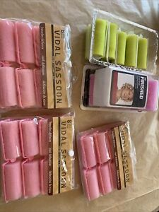 Lot Of Vintage Foam Sponge Rollers Curler Vidal Sassoon Pink Green Goody