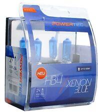 POWERTEC XENON BLUE DUO HB4 HEADLIGHT CAR FOG LAMP BULB SET 12V 51W