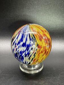 "German Handmade Onionskin Marble Mica Onionskin Marble Vintage Marble 1.732"""