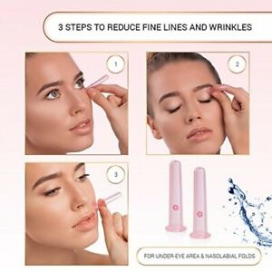 Face Cupping Facial Lifting Vacuum Mini Eyes Silicone Suction Massage Skin UK
