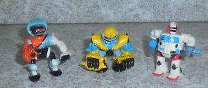 Zbots GALOOB Z-Bot 3 Figurine Lot Rayon Zentor Ripcage