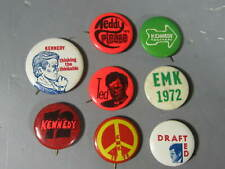 8 1972 Ted Teddy Kennedy for President Pinbacks