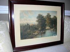 "LARGE TABOR PRANG CHROMOLITHOGRAPH  DATED 1909 ORIGINAL FRAME 32""x 26"""